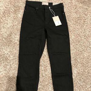 NWT Black Everlane ankle high rise skinny jeans